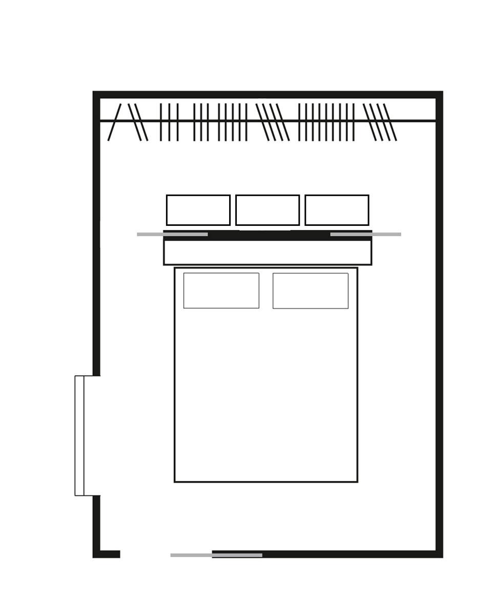 Cabina armadio dietro il letto dr31 pineglen - Cabina armadio dietro al letto ...