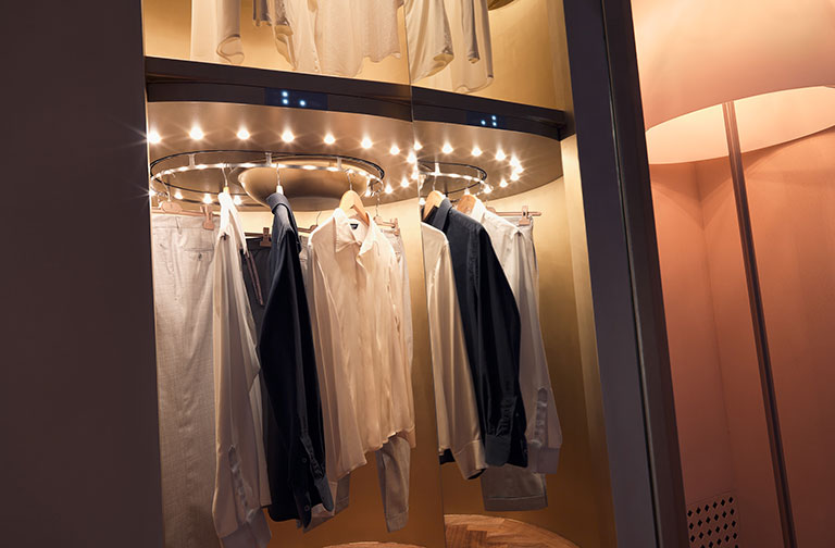 Dynamic Closet Custom: Detail Of The Rotating Shelf