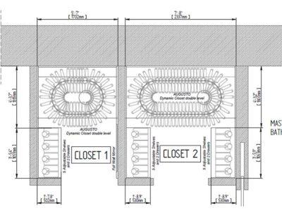 Progetto di cabina armadio su misura con Augusto Custom
