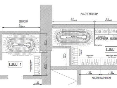 Disegno di una soluzione per cabina armadio con Augusto Custom